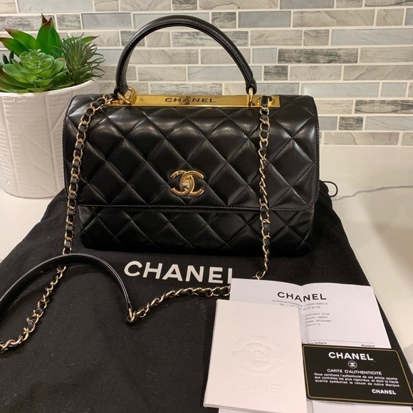 5263a5f69908 CHANEL Bags | 2017 Trendy Cc Top Handle Quilted Lambskin Medium ...
